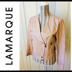Lamarque leather jacket Blush size small